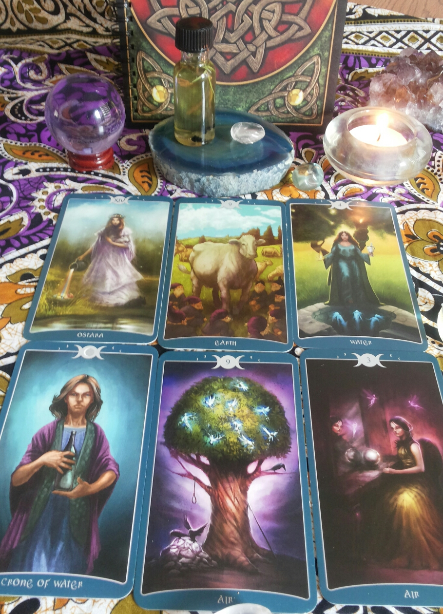 Custom Made Goddess Blend and Tarot Reading by Sister SpellBinder