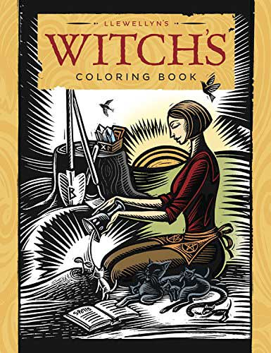 Witch's coloring book by Llewellyn