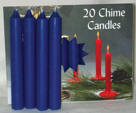 Dark Blue Chime Candle 20 pack