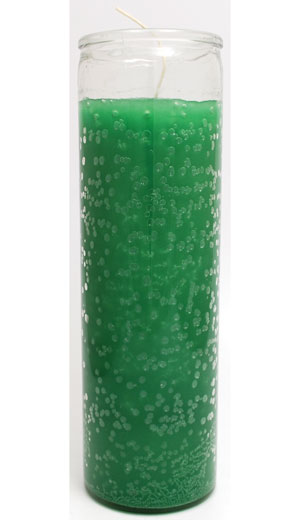 Green 7-day jar candle