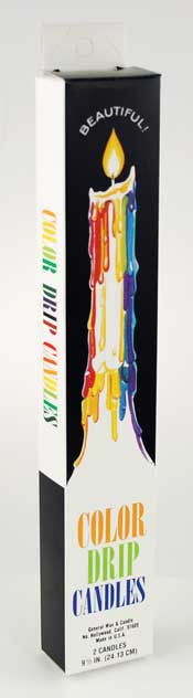 Mutli-Color Drip Candles (2 per pack)