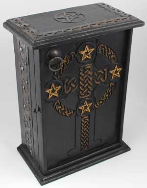 Pentagram and Celtic Altar Cupboard