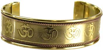 Om Copper & Brass bracelet