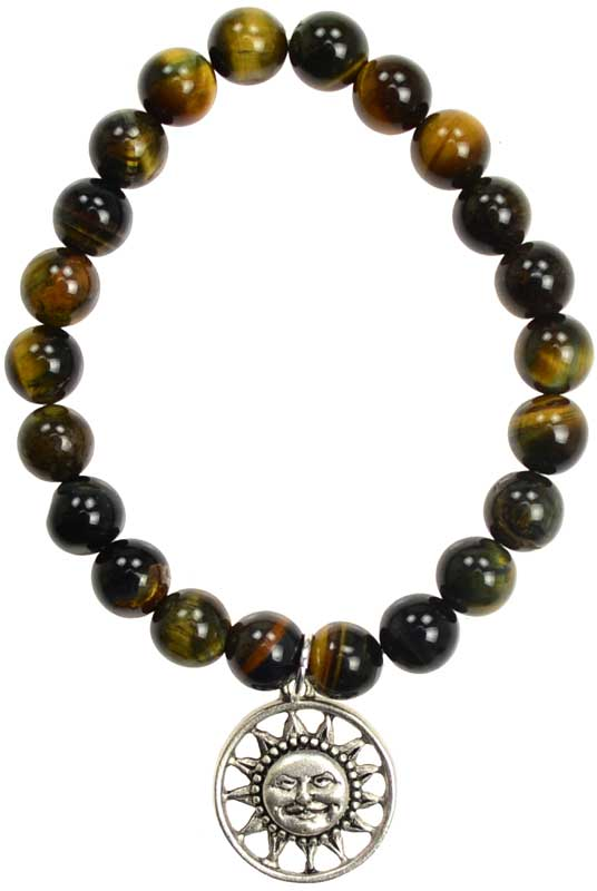 Blue Tiger Eye Joy Sunface silver