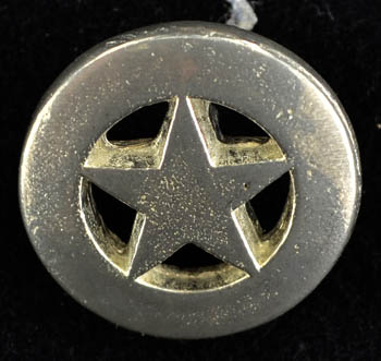 Pentagram button (set of 10)