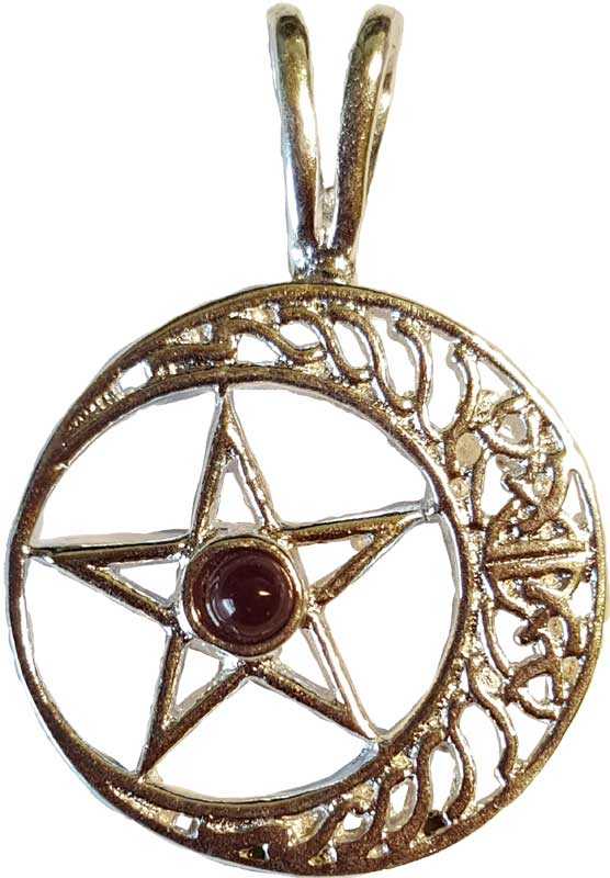 Celtic Pentagram Moon 2""