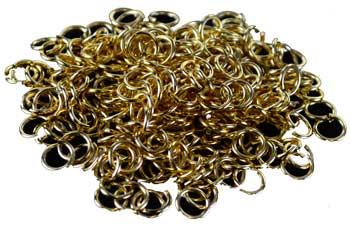 Jump Rings, yellow plated 1oz