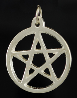Silver Plated Pentagram 25mm