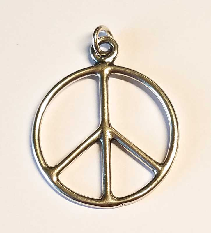 Peace Sign sterling silver pendant