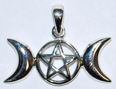 Open-Faced Triple Moon Pentagram