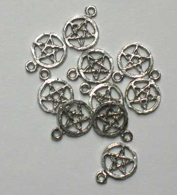 Small Pentacle Charm 10 Pack