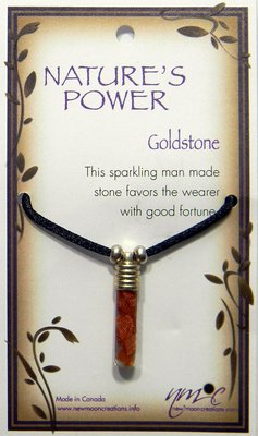 Goldstone Pendant for Good Fortune