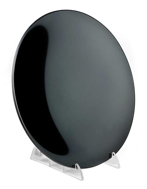 "8"" Concave Black scrying mirror"
