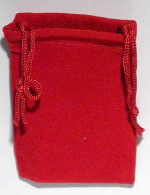 Bag Velveteen 2 x 2 1/2 Red