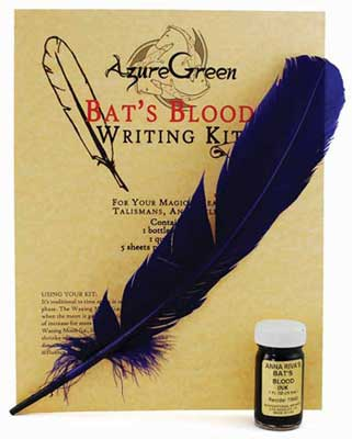 Bat's Blood writing kit