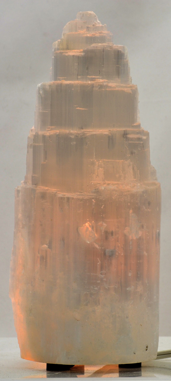 Selenite Lamp 10""