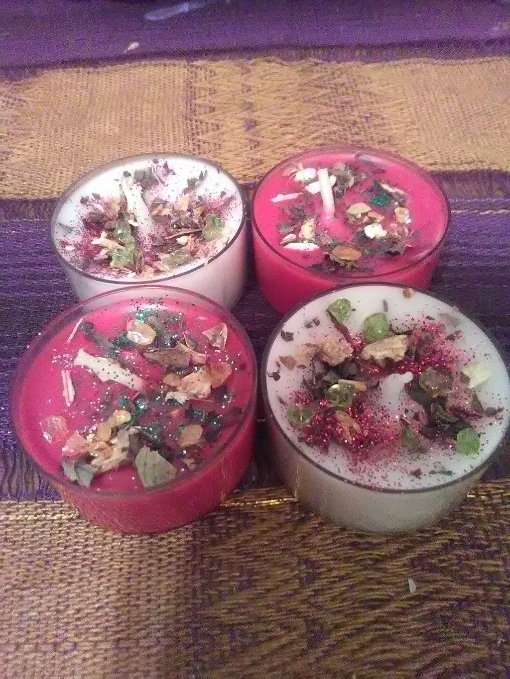 Winter Solstice Loaded Spell Tea lights 4 in a pack( Limit Time)